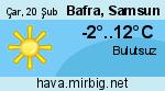 Bafra, Samsun hava